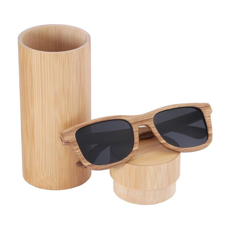 BerWer 100% Real Zebra Wood Wood Sunglasses New Polarized Handmade - Հագուստի պարագաներ - Լուսանկար 5