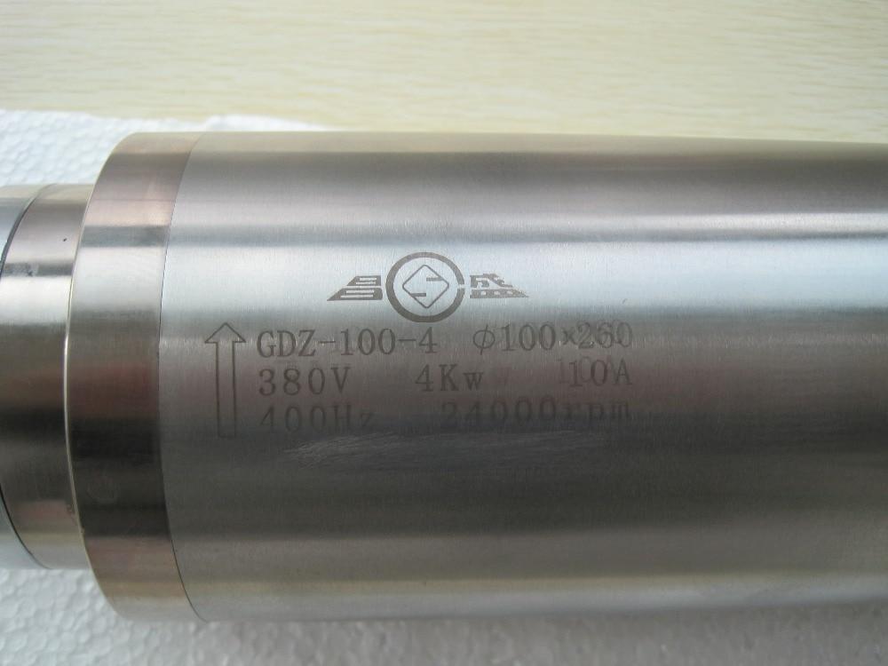 Chłodzony wodą 4kw 380V D100 * 260mm silnik wrzeciona CNC do drewna, aluminium, grawerowania / frezowania kamienia