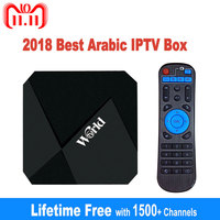 IPTV Box Free Lifetime IPTV Subscription No Monthly Fee 1400+ Channels 2G 16G Smart Android 7.1 TV Box Arabic IPTV Free Forever
