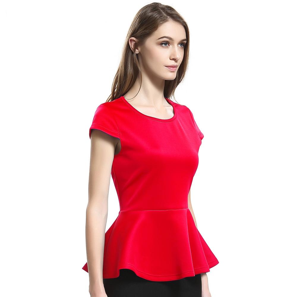 Escalier 2017 Yaz Kadın T-Shirt Rahat Kadın Kısa Kollu Tees Tops - Bayan Giyimi - Fotoğraf 3