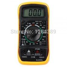 XL-830L profesional LCD Digital de Voltímetro Del Multímetro Ohmímetro Del Amperímetro OHM Voltaje Actual Probador