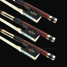 1 stück AAA Beste professionelle Brasilien holz 4/4 violine bogen Mongolei weiß schachtelhalm kupfer teile beste balance