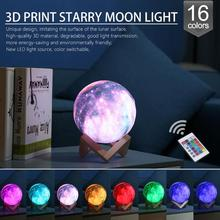 3D Print Star Moon Lamp Colorful Change Touch USB LED Night Light Galaxy Lamp Home Decor Creative Gift New