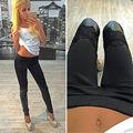 Women Sexy  High Waist Skinny Faux Leather Leggings Pants Plus Size Bodycon Leather  Leggings