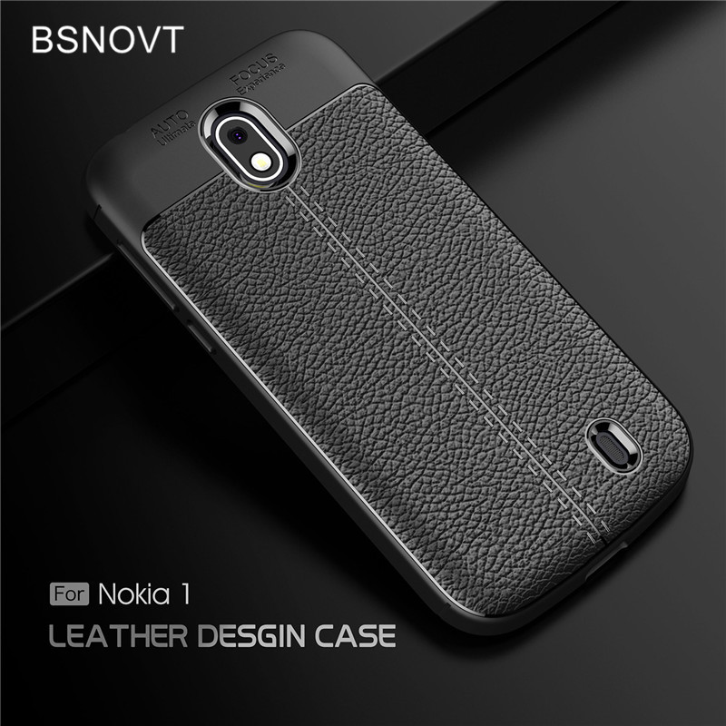 BSNOVT For <font><b>Nokia</b></font> 1 Cover Shockproof Luxury Leather TPU Case For <font><b>Nokia</b></font> 1 Phone Funda For Nokia1 Shells TA-<font><b>1047</b></font> TA-1060 Funda 4.5