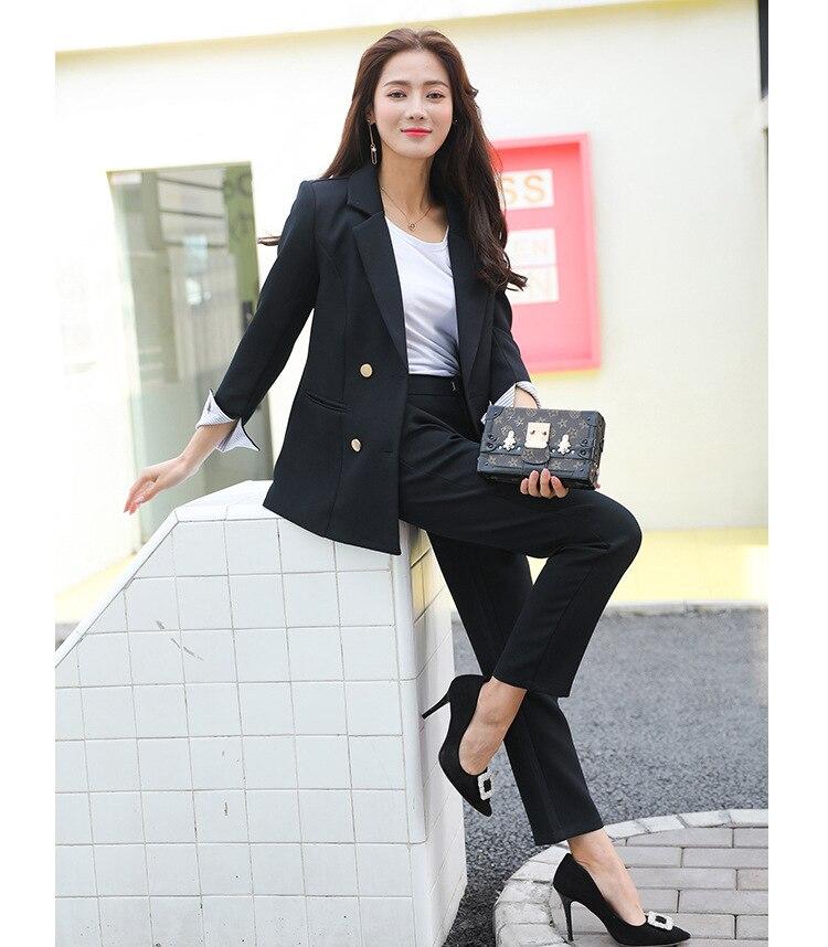 Pièces Costumes 2 Blazer Ensembles 1 Femmes 2 Bureau Haute De Formelle Pour D'affaires Ensemble Qualité Vêtements Deux Travail Pantalon IwxaxzYq