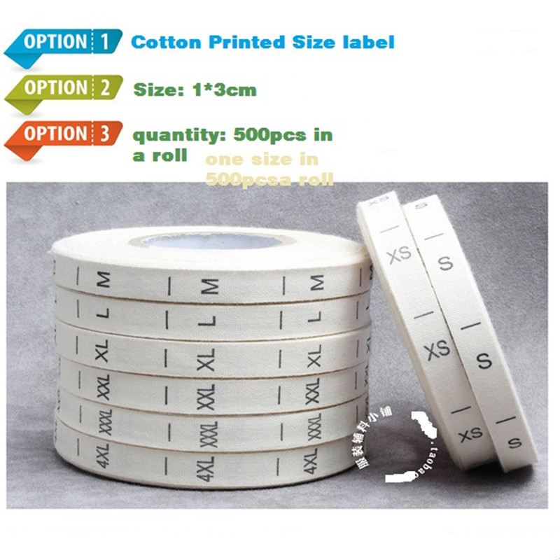 US $28 0  Upscale cotton clothing sizes standard number standard collar  standard logo marks label size -in Garment Labels from Home & Garden on