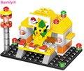 1003B Bainily 4 pack/lote La Tierra Compatible Con Legoe Pikachu Ladrillos juegos de Bloques de Construcción de Juguetes regalos del bebé
