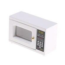 Oferta juego de utensilios de cocina 1/12 para casa de muñecas modelo de accesorios de cocina en miniatura (horno microondas)