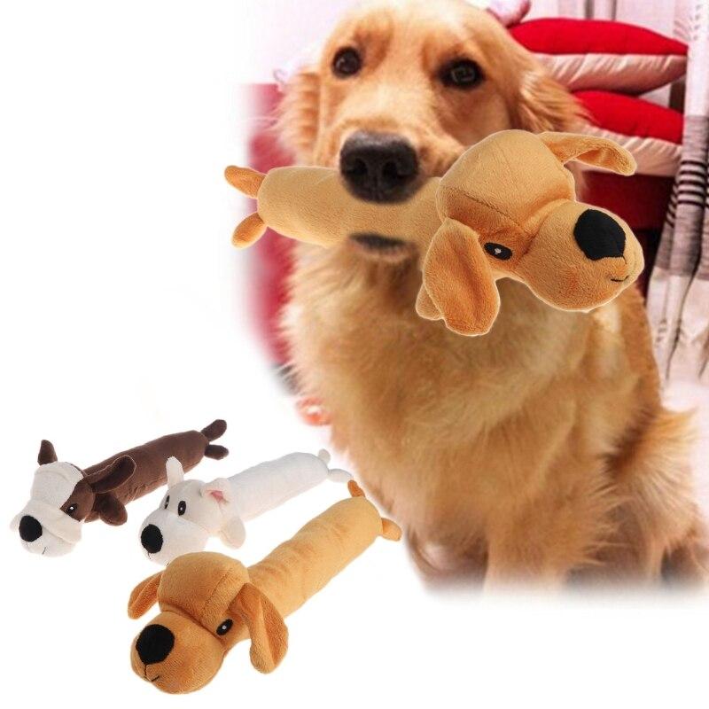 Pet Toy Cat Dog Squeaker Puppy Plush Random Animal Shape Long Funny Sound Gifts