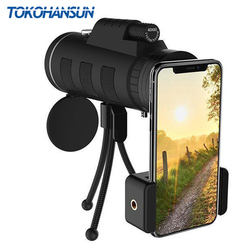 TOKOHANSUN 40X Zoom Monocular Mobile Phone Telescope 40x60 For Iphone Huawei Xiaomi Smartphones Camera lenses Outdoor Hunting