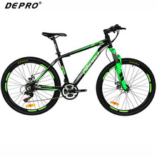 DEPRO Professional 21 Speed Mountain Bike Bicycle Aluminum Frame Suspension Fork  Braking Bikes 26 inch MTB Road Racing Bicycle