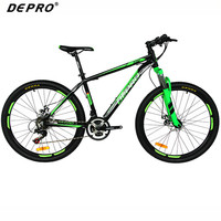 DEPRO Professional 21 Speed Mountain Bike Bicycle Aluminum Frame Suspension Fork Braking Bikes 26 Inch MTB