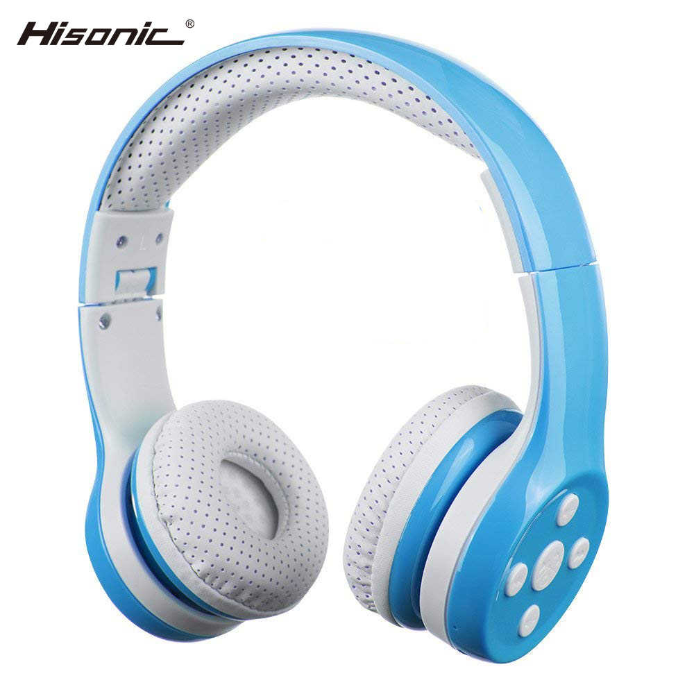 ac6ad65bb7d Hisonic Wireless Headphones for Kids Handsfree Noise Cancelling Protect the ear  Foldable Wire with Microphone bs