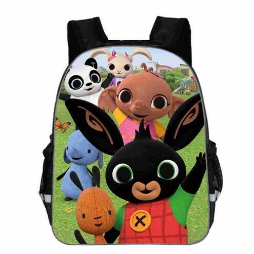 Bing Bunny Print Backpack School Boys Girls Children Book Bag Cartoon Baby Girl Backpack Cartable Enfant Kindergarten Bag