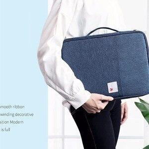 Image 3 - Đa chức năng Chống Nước A4 Lưu Trữ Tài Liệu Túi Bàn Fille Thư Mục Người Tổ Chức Ốp Lưng Laptop Công Sở Dây Kéo Túi Dành Cho Nam Nữ
