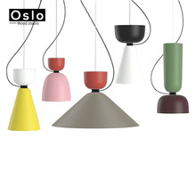 Modern Fashion Colorful Pendant Lights Minimalist design shade Home decoration lighting for Bedroom Suspension Luminaire(China)