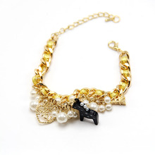 Korean Style Little cute house and eiffel tower Charms pendants Pearl bracelets