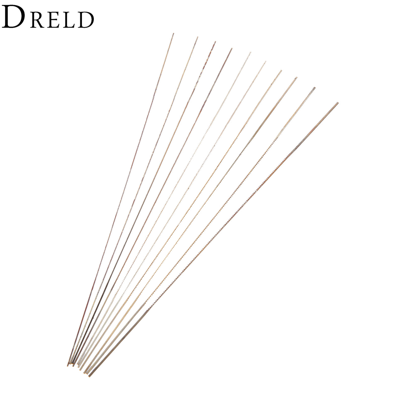 Dreld 10pc 130mm Scroll Saw Blades For Wood Metal Cutting