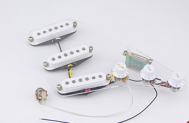 High Quality Guitar Wiring Harness SSS Alnico Bar Electric Guitar Pickup For Fender Strat Style White high quality guitar wiring harness sss alnico bar electric guitar fender strat wiring harness at alyssarenee.co