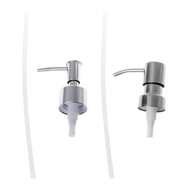 Stainless Steel /ABS Plastic Soap Dispenser Nozzle 12 OZ Built In Hand Lotion Pump Fitting W315