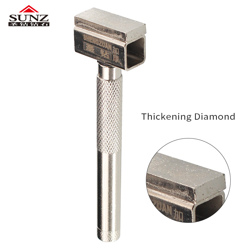 1 buc diamant roată șlefuitor roșu strat îngroșant șlefuitor de metal instrument de pansament pentru șlefuire