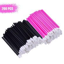 200 Pcs Disposable Lip Brushes Lipstick Gloss Wands MakeUp Brush Applicators Makeup Tool Kits