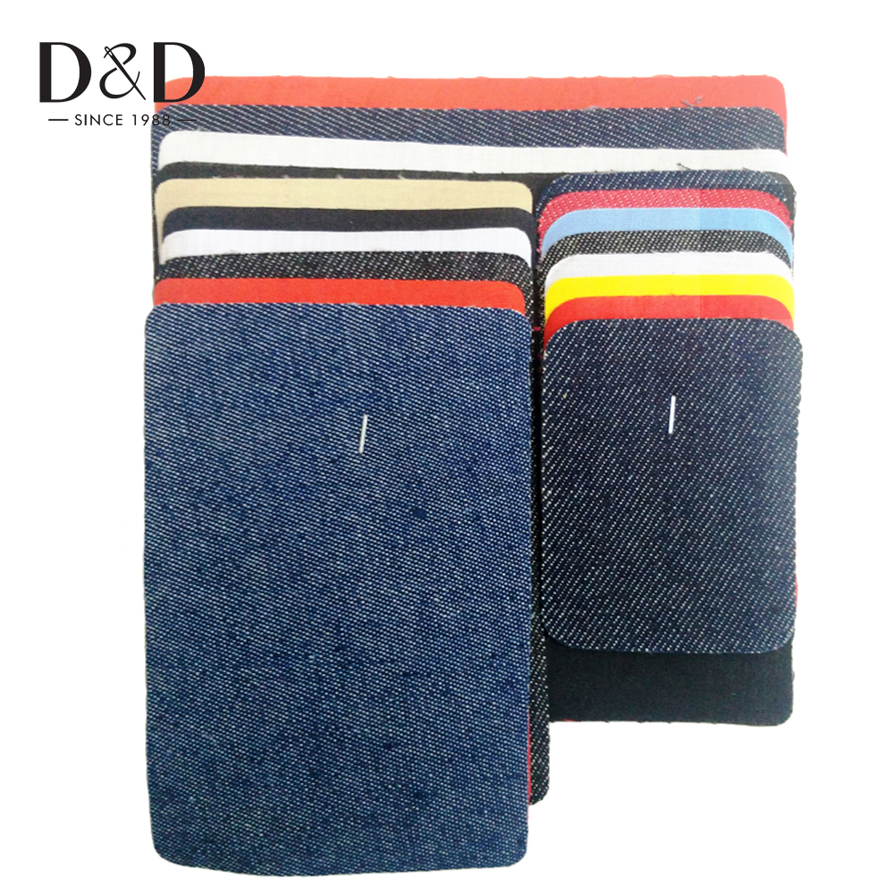 D&D 18Pcs Assorted Iron on Jeans Denim/Twill/Cotton Patches Repairs Elbow Knee Patch Sewing Applique DIY