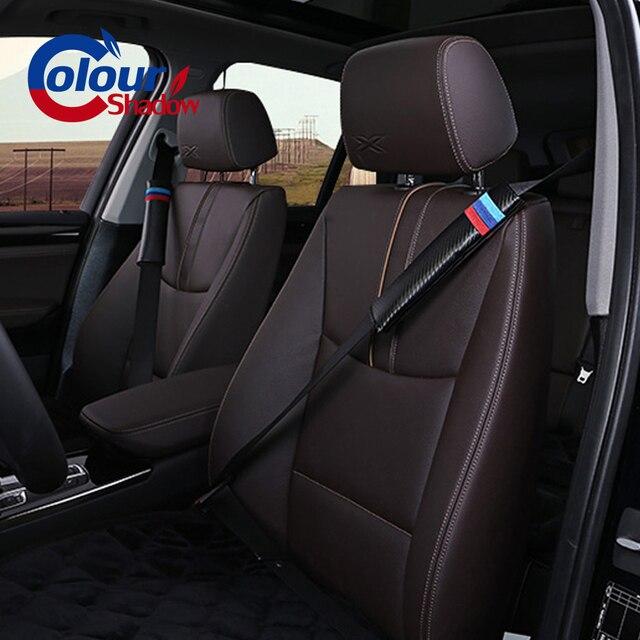 Couverture de ceinture de siège en fiber de carbone   Tapis dépaule pour BMW e30 e39 e46 e90 e60 f10 f30 X5 X3 X6 M3 M5 330i, accessoires de voiture