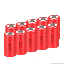 10PCSX NI-CD battery rechargeable battery sub battery SC battery 1.2 v with tab 2200 mah for electrical tools 12 pcs lot 4 5 sc 1200mah ni cd battery rechargeable battery sub battery sc battery 1 2 v with tab