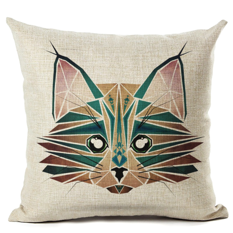 New Animal Cotton Pillowcase Square Pillow Case Cushion Cover Office Throw Pillow Case Sofa Home Decoration F