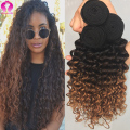 Ombre Deep Wave Brazilian Hair 3 Bundles Rosa Hair Products Brazilian Virgin Hair Star Style Hair Accessories Ombre Curly Weave