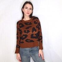 Укороченный пуловер с животным принтом