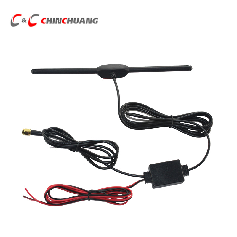 New Launch ! Car DVB-T ISDB-T Digital TV Active Antenna with SMA Connector, Amplifier Booster for Car DVD Player Digital TV Box