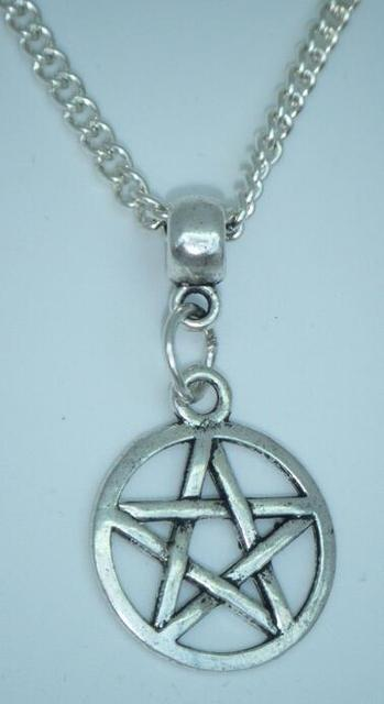 Hot fashion antique vintage silver pentacle pentagram pendant wicca hot fashion antique vintage silver pentacle pentagram pendant wicca star wiccan pagan chain necklace women jewelry aloadofball Images