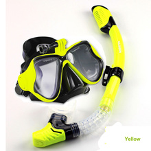Professional diving mask and snorkel set Top camera scuba mask to gopro Black silicone diving mask dry snorkel dive equipment