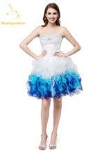 Новое Милое Свадебное платье из органзы и Дешевые Короткие бальные
