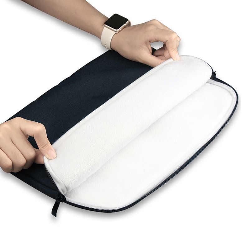 Laptop Sleeve Bag Case untuk MacBook Pro 13 15 A1706 A1707 A1708 Nilon untuk Lenovo Asus Xiaomi 11 12 13 15 15.6 CM Tas Notebook