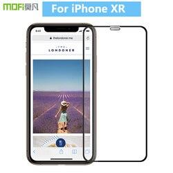 Dla iPhone XR oryginalny MOFi 9 H pełna pokrywa szkło hartowane folia ochronna na ekran do iPhone XR folia ze szkła hartowanego