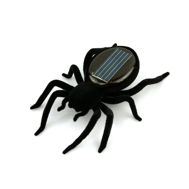 10pcs/lot Educational Solar powered Spider Robot Toy Gadget Gift free shipping