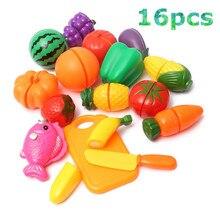 Chiledren притворись готовить овощной play toys образовательные фрукты питание резки косплей