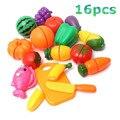 Plástico de cocina fruta vegetal de corte toys niños pretend play cocina educativos toys cocinero cosplay para chiledren