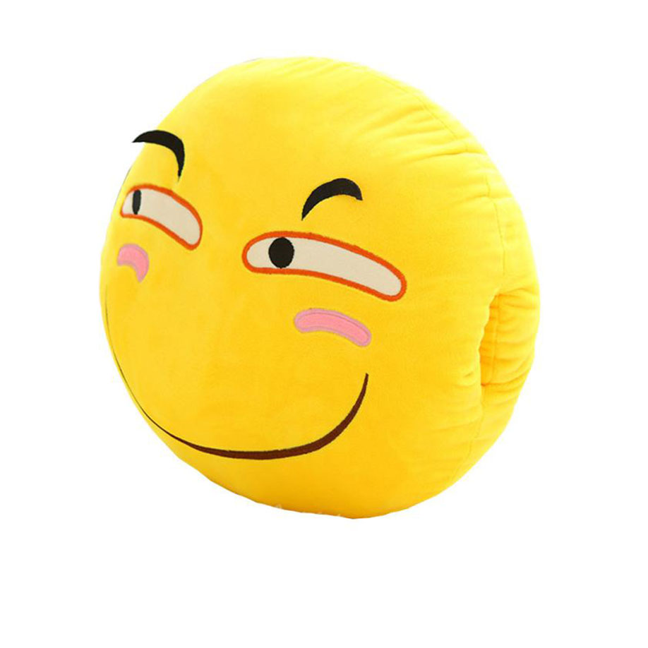 Ouneed 2017 Hot sale Cute Emoji Emoticon Cushion Round Pillow for Home Office/Hotel/Car Use