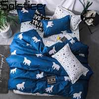 Solstice Home Textile Cartoon Fox 3/4pcs Bedding Sets Children's Beddingset Bed Linen Duvet Cover Bed Sheet Pillowcase/bed Set