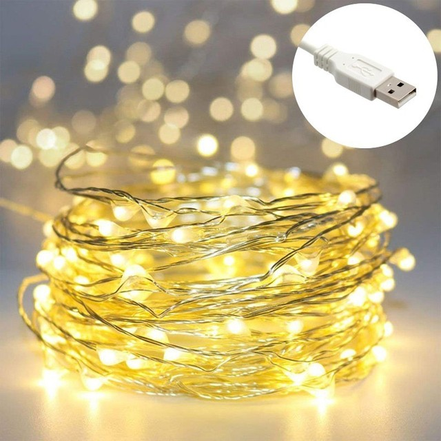official photos b3e6c 56113 US $1.89 42% OFF|Aliexpress.com : Buy 5M USB Led Garlands 50 LED String  Lights Festoon Fairy Lights Decorative Christmas Light String Outdoor ...