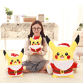 High Quality Kawaii Pikachu Cosplay Christmas Plush Toys Pikachu Plush Toys Soft Stuffed Animals Doll Christmas Gift