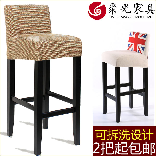 Reinforced wood bar chairs high chair free shipping in