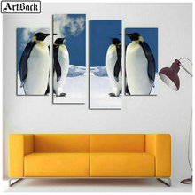 4 spell diamond painting penguin full square embroidery 3d mosaic dog flower sticker