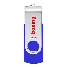 J-boxing USB Flash 64GB 32GB 16GB 8G 4GB Metal Pen Drive Swivel Memory Stick Thumb for PC Laptop Device Blue