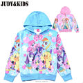brand clothes children's outerwear 3D My little pony horse jackets girl Christmas costume coat cartoon zipper hoodie elsa winter